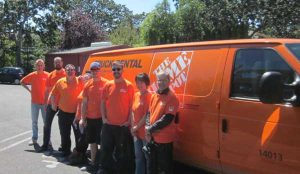Home Depot team arriving at home for vulnerable youth
