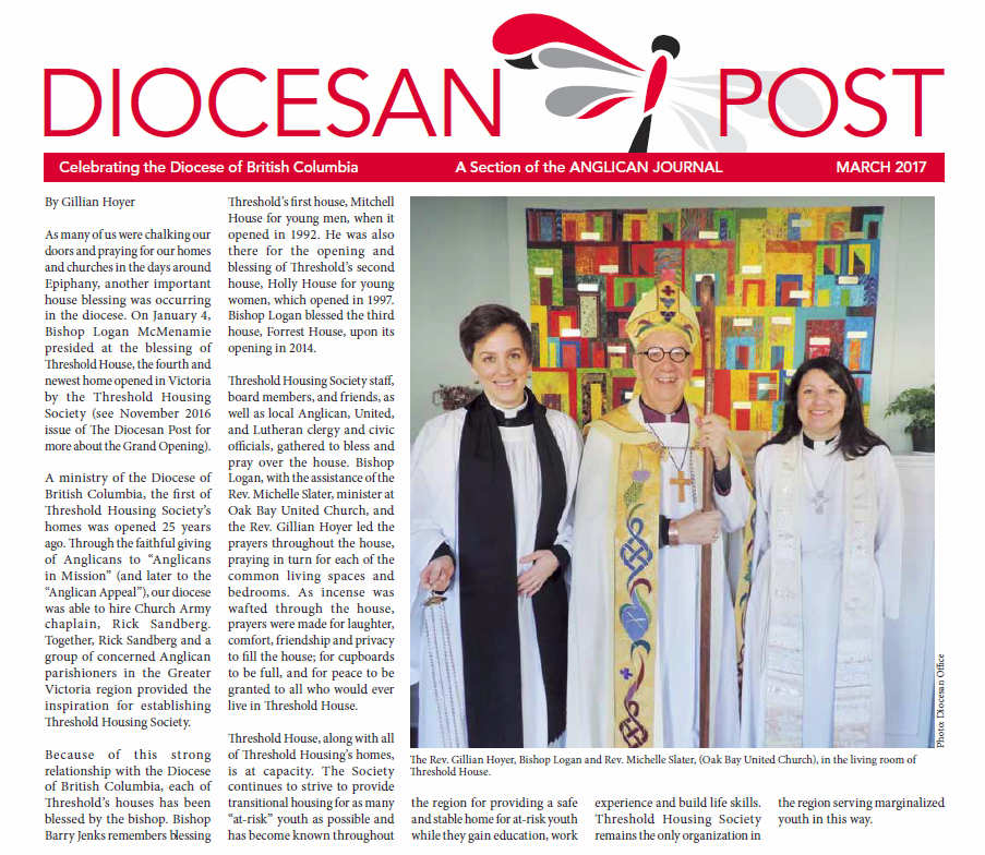 Anglican Diocesan Post - Threshold House Blessing